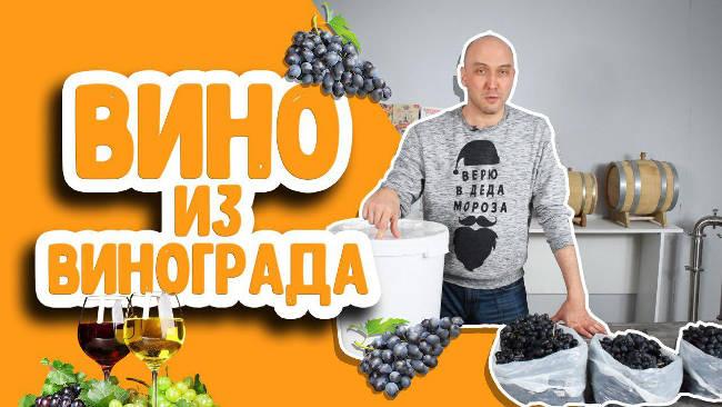 Видео Русская Дымка — Как сделать домашнее вино из винограда? Простой рецепт вина в домашних условиях!