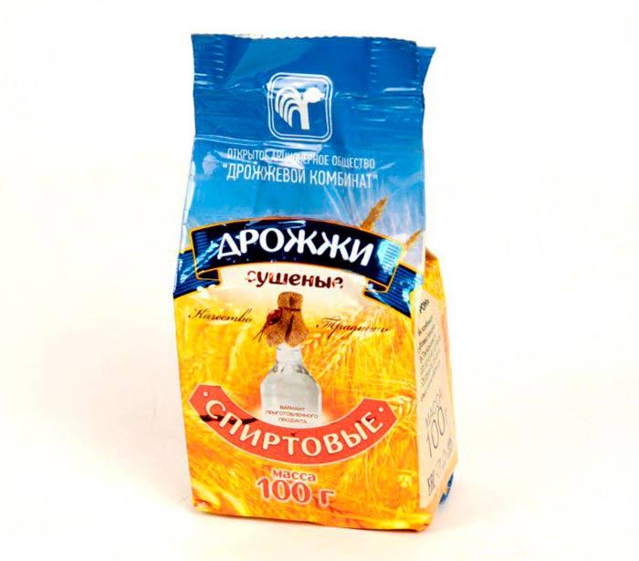 Дрожжи спиртовые сухие (Беларусь), 100 гр