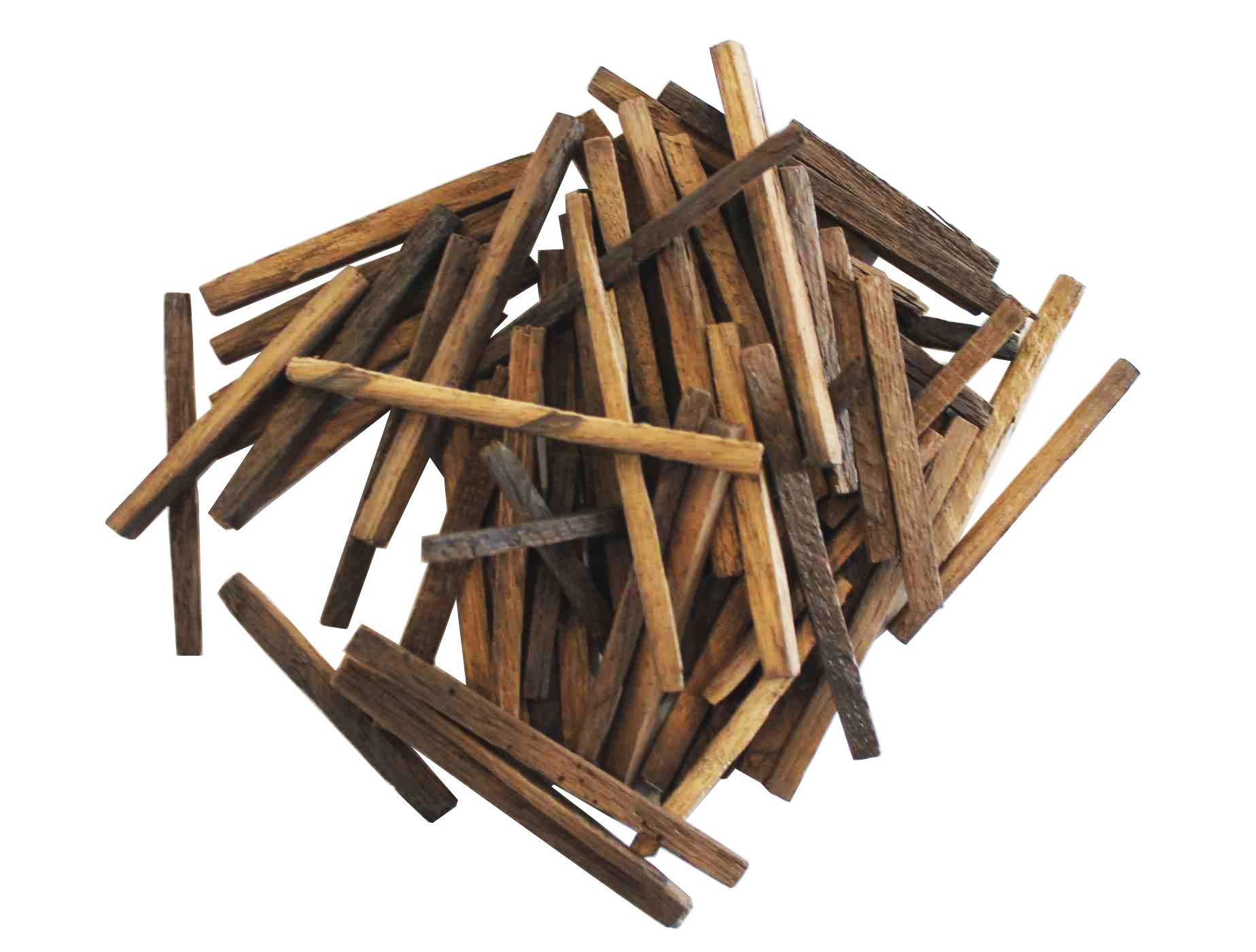 Дубовые палочки из кавказского дуба, сильный обжиг, 100 г
