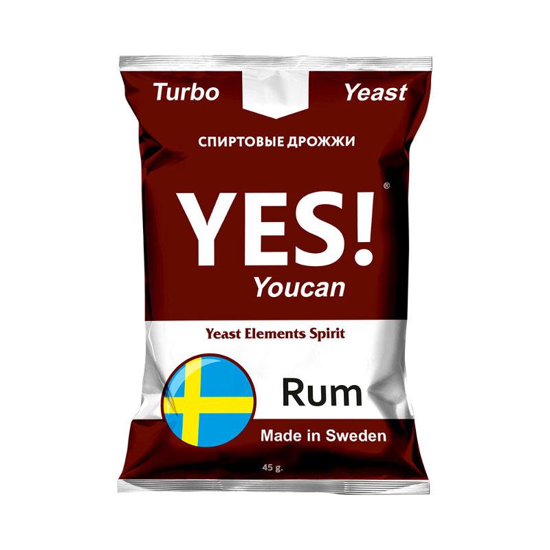 Дрожжи спиртовые YES! Rum