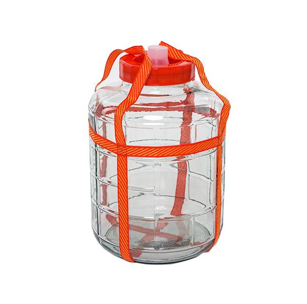 Стеклянная емкость с гидрозатвором, 22 л