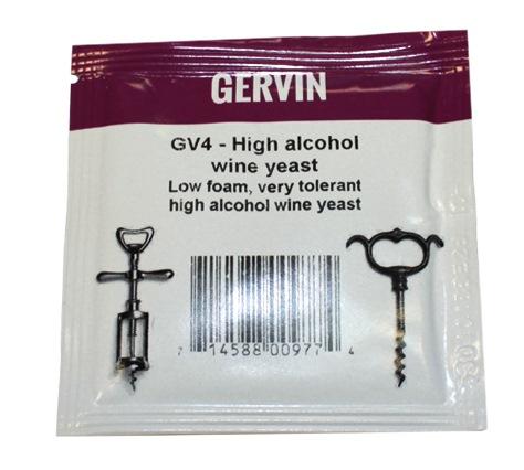 Дрожжи винные GERVIN GV4 Для крепких вин