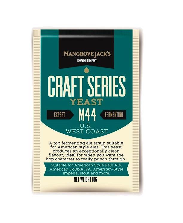 Дрожжи Mangrove Jacks US West Coast M44, 10 г*