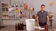Видео Русская Дымка — Розлив пива в стекло | укупорка кроненпробок
