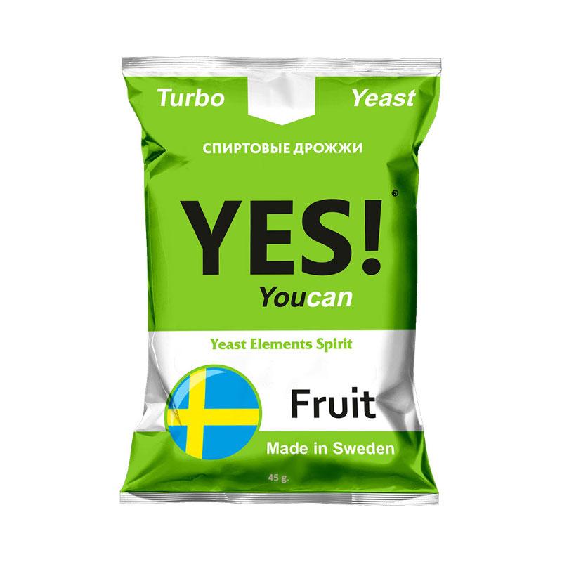 Дрожжи спиртовые YES! Frukt