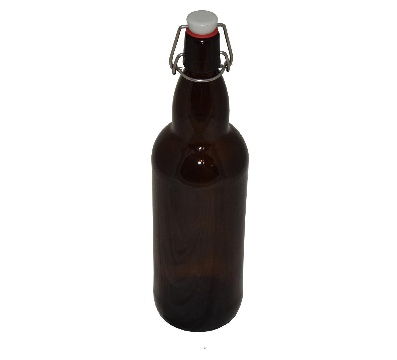 Бутылка 1 л БУГЕЛЬ (коричневая)