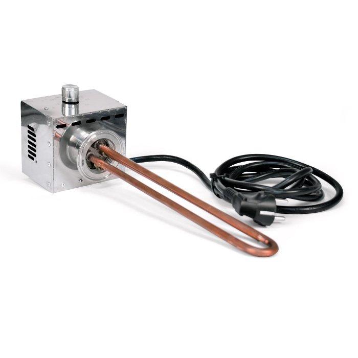 ТЭН для самогонного аппарата, 3 кВт (медный, с регулятором)