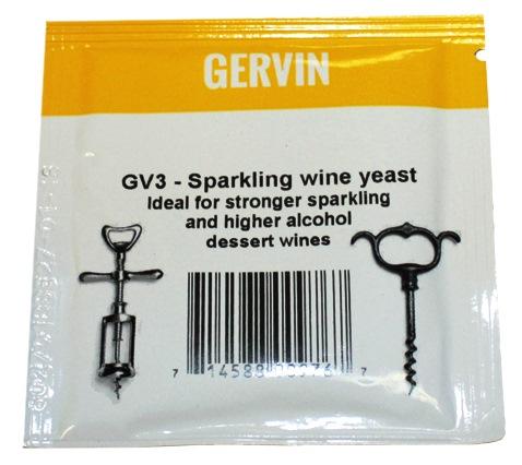 Дрожжи винные GERVIN GV3 Для игристых вин