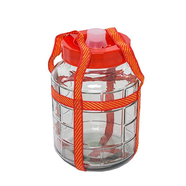 Стеклянная емкость с гидрозатвором, 7 л