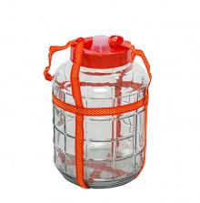 Стеклянная емкость с гидрозатвором, 18 л